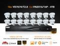 16x VD7674/2.8 & 1x VN2016/16p SYSTEM OFFER
